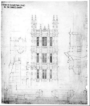 Architectural Plans for Highclere Castle
