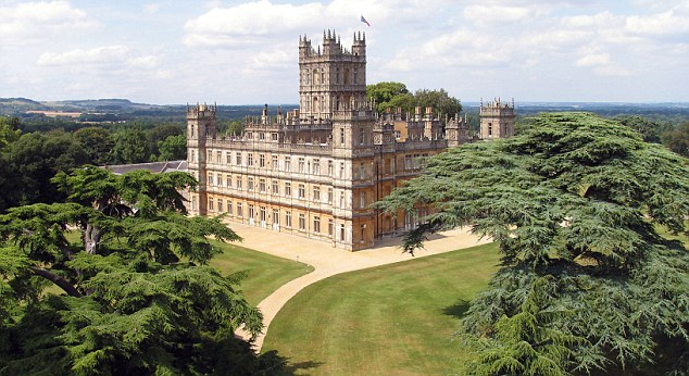 Highclere Castle, Location for Downton Abbey- Daily Mail